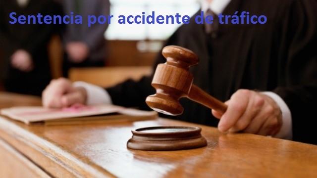 sentencia accidente de tráfico